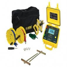 AEMC 4630 KIT-150FT (2135.22) 4-Point Digital Ground Resistance Tester Kit with 150 ft Leads and Rechargeable Battery Pack