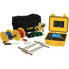 AEMC 6470-B KIT-300FT (2135.03) 3-Point and 4-Point Digital Ground Resistance Tester Kit with 300 ft Leads