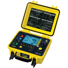 AEMC 6471 (2135.49) 2-Point, 3-Point and 4-Point Digital Ground Resistance Tester with Probes, Optional 2-Clamp Measurement