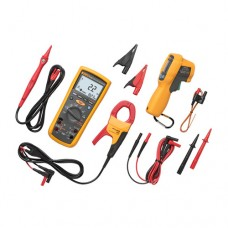 Fluke 1587KIT/62MAX+ FC True-RMS Megohmmeter Combo Kit with Fluke Connect Compatibility, AC Current Clamp and Infrared Thermometer