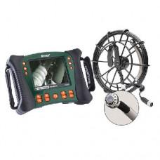 Extech HDV650-10G Plumbing VideoScope Kit (25 mm Camera Head w/10 m Fiberglass Cable)