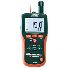 Extech MO290 Pinless Moisture Psychrometer & 8-in-1 Meter with Patented Built-in Infrared Thermometer