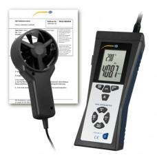 PCE-VA 11-ICA Flow Meter incl. ISO Calibration Certificate