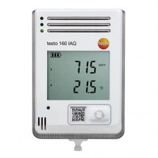 Testo 160 IAQ Wi-Fi Data Logger with Display and Internal Sensors for Temperature, Humidity, CO2, and Atmospheric Pressure