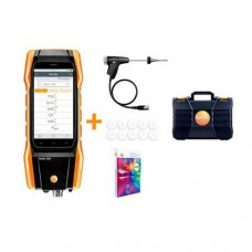 Testo 300-LL-C-KIT Commercial Longlife Combustion Analyzer Kit with Smart-Touch Technology, O2 & CO Sensors