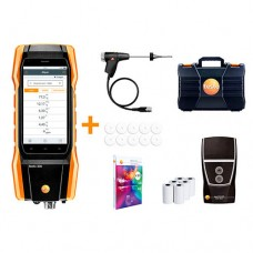 Testo 300-LL-RC-KIT w/Printer Residential / Commercial Longlife Combustion Analyzer Kit with Smart-Touch Technology, Printer, O2 & CO Sensors
