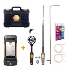 Testo 400-AF-KIT (0563 0407) Air Flow Kit with 400 Universal IAQ Instrument, Bluetooth Hot Wire Probe