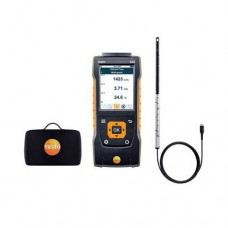 "Testo 440-HW-KIT (0563 4400) Hot Wire Kit with 440 Air Velocity and IAQ Measuring Instrument, 0.35"" Hot Wire Probe"