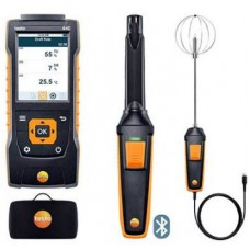 Testo 440-IAQ-KIT (0563 4408) Bluetooth Indoor Comfort ComboKit with 440 Air Velocity and IAQ Measuring Instrument