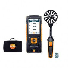 "Testo 440-LV-KIT (0563 4403) Bluetooth Large Vane Kit with 440 Air Velocity and IAQ Measuring Instrument, 3.9"" Vane Probe"